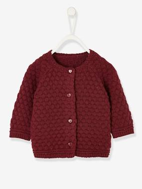 Baby-Jumpers, Cardigans & Sweaters-Fancy Knit Cardigan, for Newborn Babies