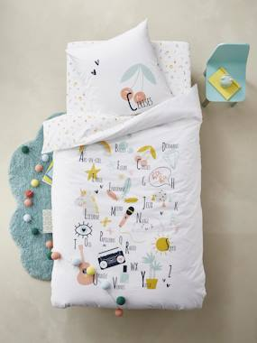 Bedding & Decor-Children's Duvet Cover + Pillowcase Set, FUN ALPHABET