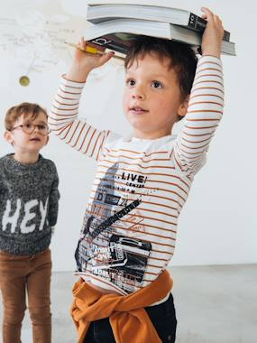 Boys-Tops-T-Shirts-Top for Boys, with Photoprint Motif