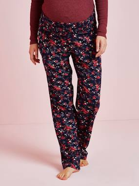 Maternity-Trousers-Printed Maternity Pyjama Bottoms