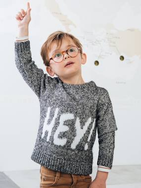 Boys-Cardigans, Jumpers & Sweatshirts-Jumpers-Jumper with Message for Boys