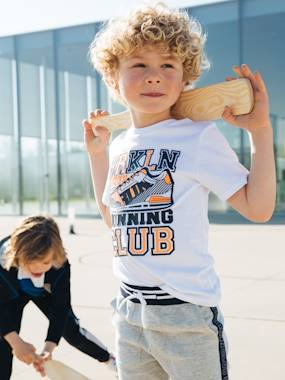 Boys-Tops-T-Shirts-Sports T-Shirt with Trainer Print, for Boys