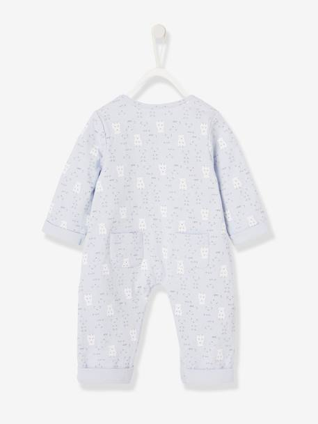 Jumpsuit for Newborn Babies BLUE MEDIUM SOLID+GREY LIGHT MIXED COLOR+PINK MEDIUM SOLID - vertbaudet enfant