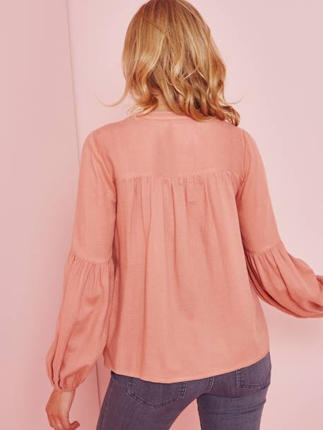 Maternity Blouse BLUE DARK SOLID+PINK DARK SOLID+WHITE LIGHT SOLID - vertbaudet enfant