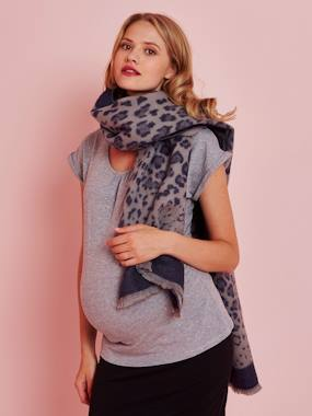 Vertbaudet Collection-Maternity-Long Scarf with Leopard Motif, for Women