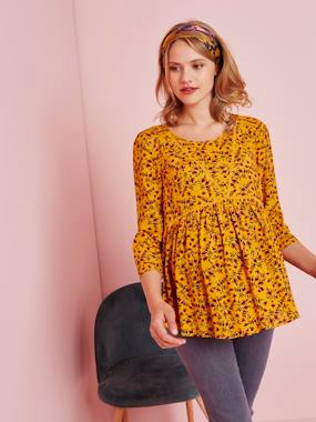 Maternity-Blouses, Shirts & Tunics-3/4-Sleeve Maternity Blouse