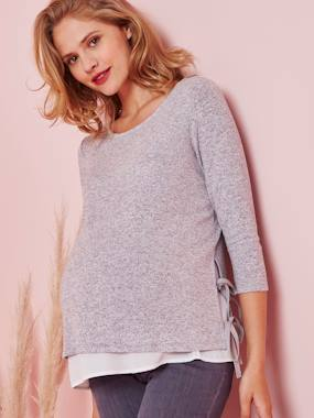 Maternity-Knitwear-2-in-1 Maternity Top