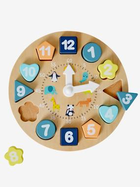 Toys-Traditional Games-Wooden Educational Clock