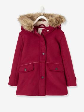Bonnes affaires-Wool Duffle Coat, for Girls