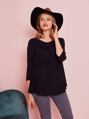 Vertbaudet Collection-Maternity-3/4-Sleeve Maternity Blouse