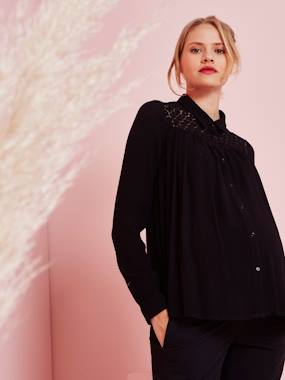 Maternity-Blouses, Shirts & Tunics-Maternity Lace Blouse