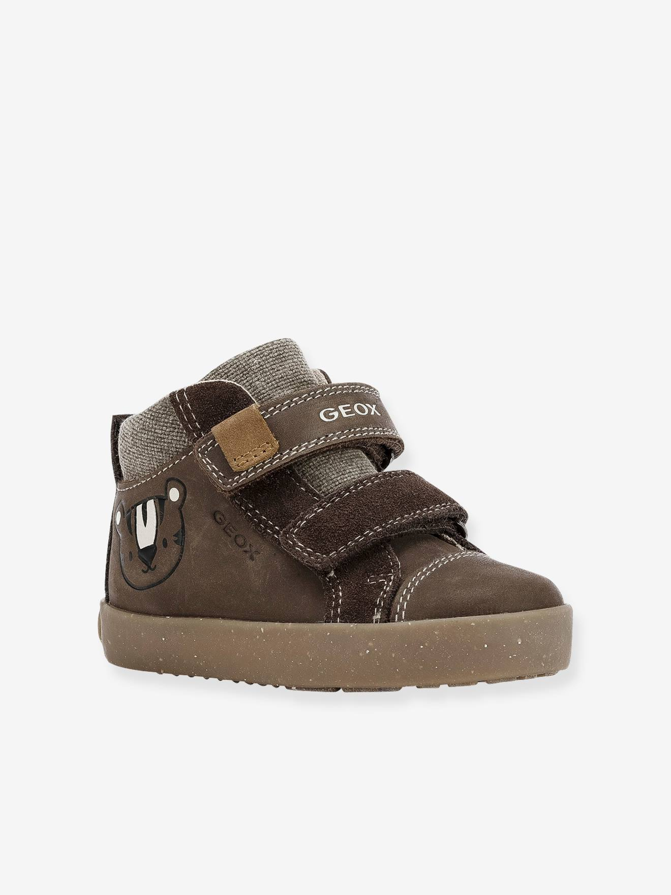 Trainers for Boys, B Kilwi Boy F WWF, by GEOX® brown light solid, Shoes