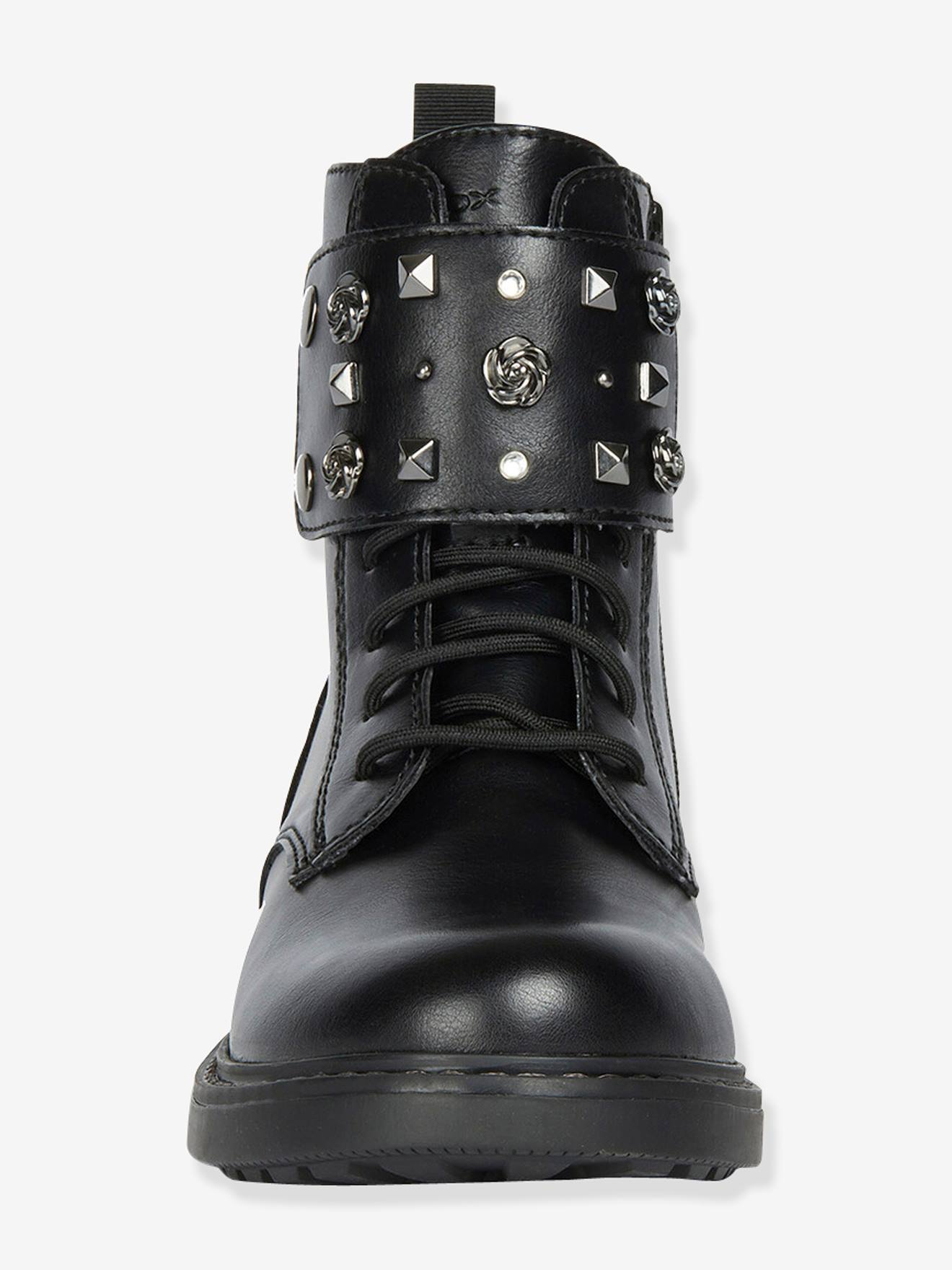 For Dark C GirlsBy Girl Eclair Black J SolidShoes Boots Geox® WEHID29Y