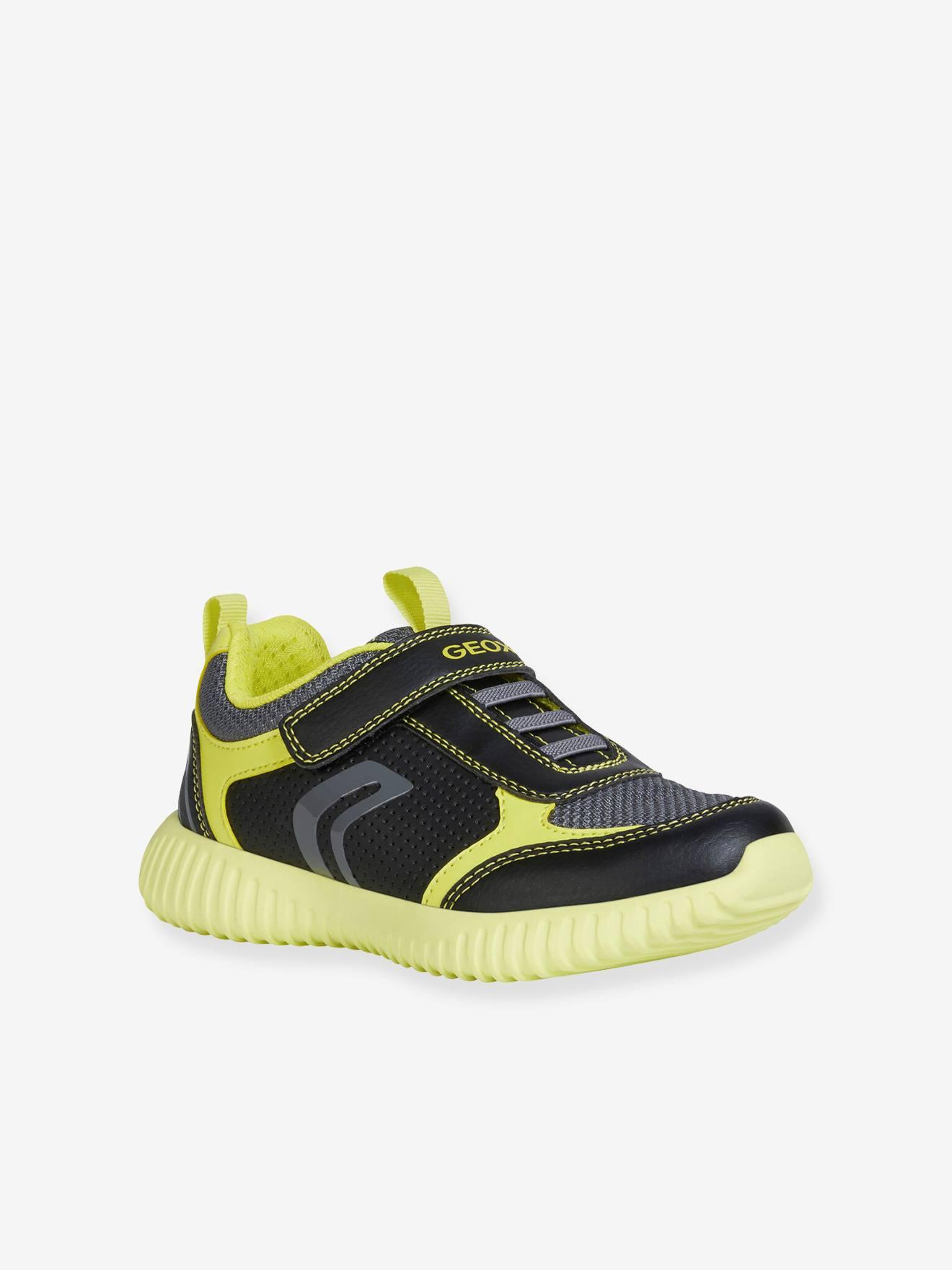 geox black trainers