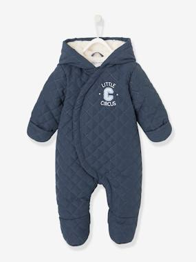 Baby-Outerwear-Snowsuits-Padded and Lined Pramsuit, for Babies