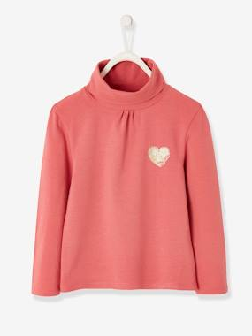Vertbaudet Basics-Girls-High Neck Top for Girls