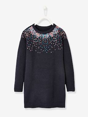 Festive favourite-Knitted Dress with Sequins