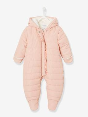 Coat & Jacket-Full-Length Opening Pramsuit, Warm Lining, for Babies