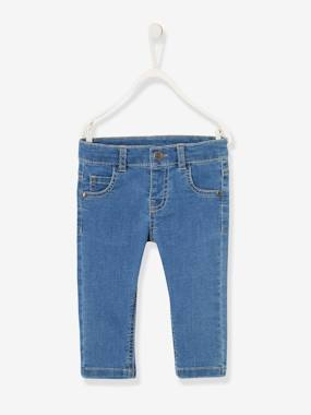 Baby-Trousers & Jeans-Slim Leg Jeans for Baby Boys in Stretch Cotton