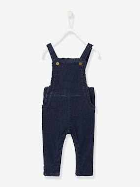Baby-Dungarees & All-in-ones-Denim Dungarees for Baby Girls