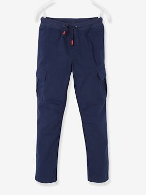 Vertbaudet Collection-Boys-Cargo-Style Trousers, Lined, for Boys