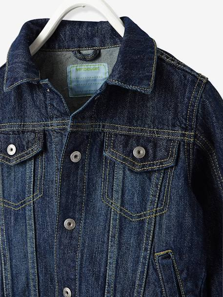 Boys Denim Jacket Stone - vertbaudet enfant