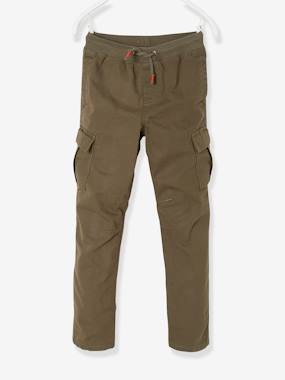 Boys-Trousers-Cargo-Style Trousers, Lined, for Boys