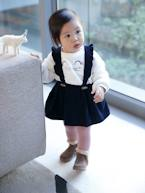 Corduroy Skirt with Straps for Baby Girls  - vertbaudet enfant