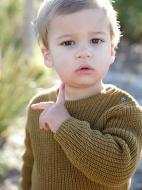 Baby-Jumpers, Cardigans & Sweaters-Rib Knit Jumper for Baby Boys