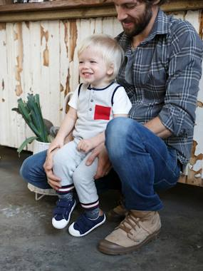 Baby-Dungarees & All-in-ones-Fleece Jumpsuit, for Baby Boys