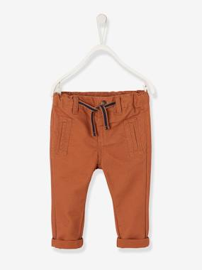 Baby-Trousers & Jeans-Twill Trousers for Baby Boys
