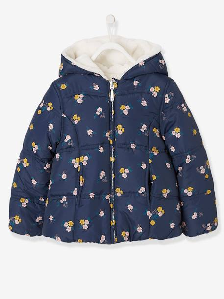 487c09b6be Reversible Jacket for Girls - blue dark all over printed, Girls