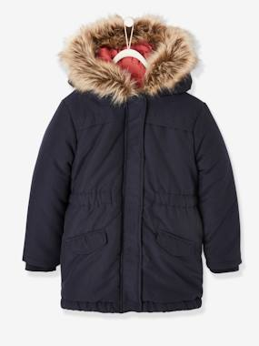 Vertbaudet Collection-Girls-3-in-1 Parka with Motif on the Back, for Girls