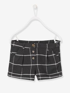Girls-Shorts-Checked Shorts for Girls