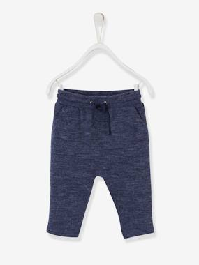 Baby-Trousers & Jeans-Trousers for Baby Boys in Marl Jersey Knit