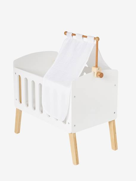Canopy for Doll Bed WHITE BRIGHT SOLID - vertbaudet enfant