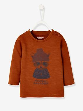 Baby-T-shirts & Roll Neck T-Shirts-Fancy Long-Sleeved Top for Baby Boys