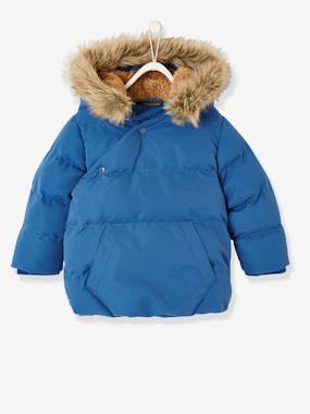 Vertbaudet Collection-Baby-Jacket with Asymmetric Zip, for Baby Boys
