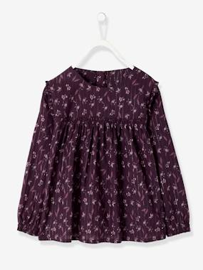 Girls-Blouses, Shirts & Tunics-Blouse with Flower Print, for Girls