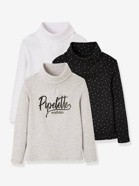 Collection Vertbaudet-Lot de 3 sous-pull fille assortis