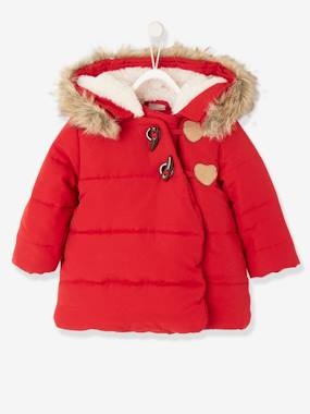 Baby-Jacket with Asymmetric Zip Fastening, for Baby Girls