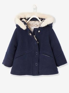 Christmas collection-Baby-Fabric Coat with Hood, for Baby Girls