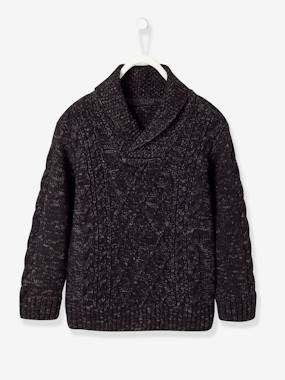 Vertbaudet Collection-Boys-Fancy Cable Knit Jumper, for Boys