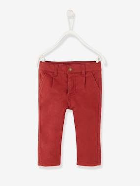 Baby-Trousers & Jeans-Slim Leg Trousers for Baby Boys, in Fleece
