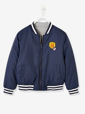 Boys-Coats & Jackets-Reversible College-Type Jacket, for Boys