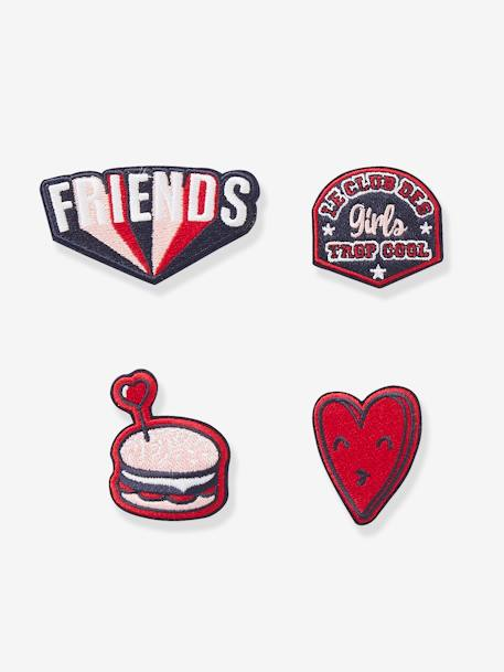 Pack of 4 Patches, for Girls BLUE DARK ALL OVER PRINTED - vertbaudet enfant