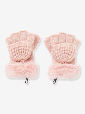 Girls-Accessories-Winter Hats, Scarves, Gloves & Mittens-Convertible Mitten Gloves, Fancy Knit, for Girls