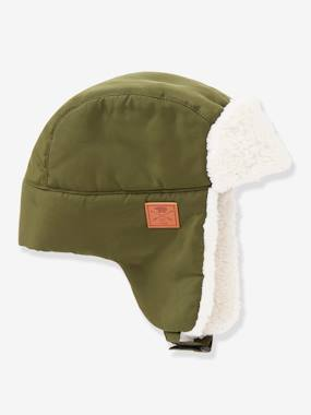 Boys-Accessories-Winter Hats, Scarves & Gloves-Sherpa-Lined Chapka Hat, for Boys