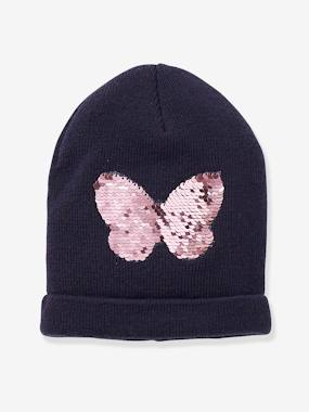 Girls-Accessories-Hair Accessories-Beanie with Reversible Sequins, for Girls