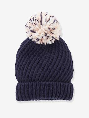 Girls-Accessories-Hair Accessories-Beanie with Pompom
